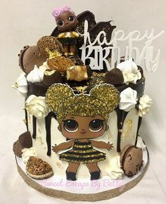ideas for cake ideas birthday queen Bee Birthday Cake, Funny Birthday Cakes, 6th Birthday Parties, Surprise Birthday, 7th Birthday, Birthday Ideas, Bee Cakes, Cupcake Cakes, Lol Doll Cake