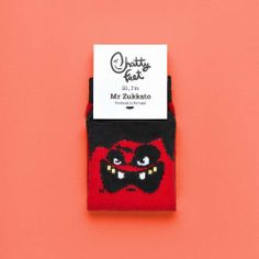 Zukkato Jr is the perfect pair of socks for when you're feeling peckish. Our funny kids' socks will give your feet a fangtastic amount of bite, just be careful around the garlic if you know what we mean!
