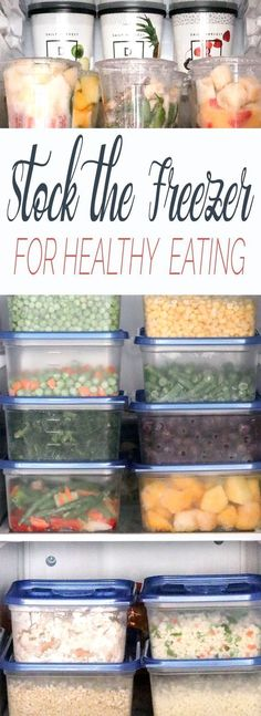 How to Stock Your Freezer for Healthy Eating 7 Whole-Food products and recipes that your freezer should never be without. A step-by-step guide to stocking your freezer for healthy eating. Make Ahead Freezer Meals, Freezer Cooking, Freezer Recipes, Organize Freezer, Meal Prep Freezer, Freezable Meal Prep, Freezer Hacks, Vegetarian Freezer Meals, Freezer Organization