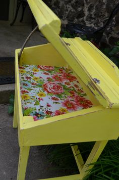 I want to keep this sooooo bad!!!  Child's Desk Vintage/Refurbished by 2ndStreetandCo on Etsy, $82.00