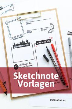 Sketchnote Vorlagen Herunterladen Sofort Loslegen Sketch Note Skizze Notizen Vorlagen