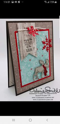 Simple Christmas Cards, Homemade Christmas Cards, Xmas Cards, Holiday Cards, Christmas Moose, Christmas 2019, Stamping Up Cards, Winter Cards, Card Tags