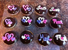 Boston Creme Mother's Day Cupcakes