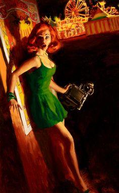Painting by Glen Orbik –