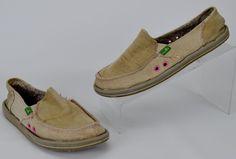 Sanuk Sidewalk Surfer Women's Size 7 M Brown Tan Slip On Shoes Flats #Sanuk #Flats #Casual