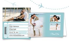 personalized Save the Date and Thank You card