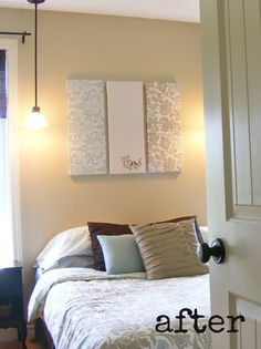 Staging Bedrooms  The Complete Guide to Imperfect Homemaking: Home Staging 101 including DIY wall art