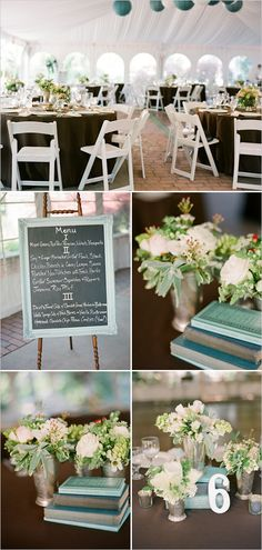 The perfect outdoor setting -- you can create your own chalkboard menu, too! :) Via #WeddingChicks