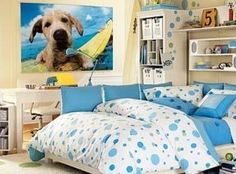 I want a large canvas like this of my dog in my room
