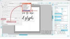 Opening Extra Font Characters, Glyphs, and Hidden Ornaments in Silhouette Studio (for PC) | Silhouette School | Bloglovin'
