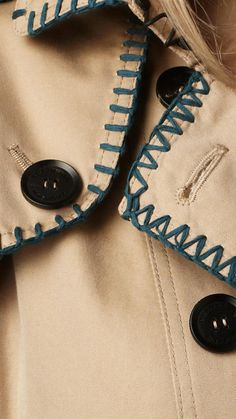 Blanket Stitch Trench Coat detail from the Burberry Spring/Summer 2012 collection