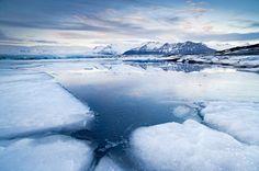 Winter time in Jokulsarlon by Vincenzo Mazza