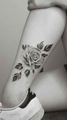 Realistic Rose Ankle Tattoo Ideas for Women - realistic tattoo ideas - Realisti. - Realistic Rose Ankle Tattoo Ideas for Women – realistic tattoo ideas – Realistic Rose Ankle Ta - Rose Bud Tattoo, Rose Tattoo On Ankle, Delicate Flower Tattoo, Ankle Tattoos For Women, Tattoos For Women Flowers, Tattoo Women, Hyper Realistic Tattoo, Realistic Rose, Rosen Tattoo Bein