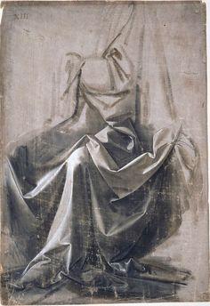 Drapery Study — Leonardo da Vinci #art #artist #arthistory #renaissance