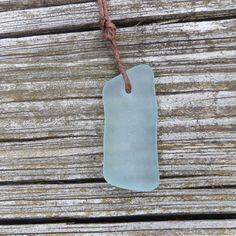 Aqua Sea Glass Surfer Necklace Beach Summer Style by WaveofLife, $14.00