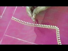 Stone Lace Work Slow Motion HD Video | Indian Hand Embroidery - YouTube
