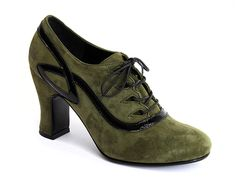 Lanciano (Olive Green) by John Fluevog. I have a thing for 1920s women's shoes and these are somewhere between that and 1930s styles.