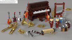 "Bonesiii's instruments by Just-a-man   Bonesiii's Lego ""Musi…   Flickr"