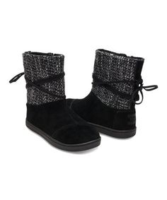 Look what I found on #zulily! Black Suede Nepal Boot - Youth #zulilyfinds