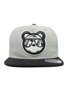 A perfect addition any snapback collection. The Heather Grey Bear Swagger snapback available now at www.bearswagger.com