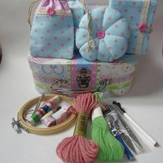 Check out this item in my Etsy shop https://www.etsy.com/uk/listing/531985599/sewing-kit-with-tools-beginners