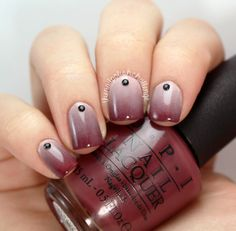 the nail polish challenge: HB Beauty Bar OPI Brazil Gradient #nails #nailart #manicure #ombre #gradient #plum #burgundy