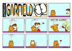 "Created by Jim Davis, Garfield is about the famous fat cat and his hilarious daily adventures with his ""pal"" Odie and others. Garfield And Odie, Garfield Comics, Garfield Quotes, Hagar The Horrible, Pokemon, Funny Comic Strips, Jim Davis, Lazy Cat, Fat Cats"