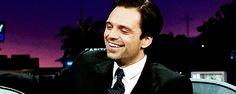 Sebastian Stan on James Corden after Sharon Stone said he was cute