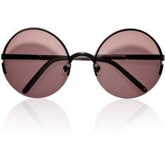 Eyewear Marni ($315) ❤ liked on Polyvore featuring accessories, eyewear, sunglasses, glasses, sunnies, marni eyewear, round glasses, round lens sunglasses, marni glasses and marni