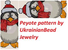 This is a peyote pattern Christmas penguin Here is 46rows and length 6.92 inch Colors 11 The PDF file includes: 1. A bead legend (color and numbers of beads needed) 2. The pattern preview 3. A large, detailed, numbered graph of the pattern. 4. Word chart Pattern in English in the form of PDF file and file includes also suggestions for material.  You find your PDF file in the Your Purchases section on Etsy after payment.  No exchange cause it is impossible.  The instruction is for personal…