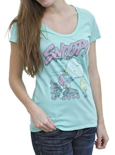 Snoopy Vintage Inspired Scoop Neck T-Shirt