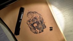 Bear Sketch Psdelux by psdeluxe