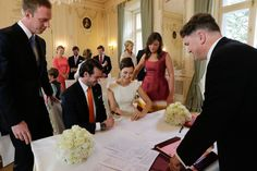 Civil wedding ceremony  of Prince Felix  and Claire Lademacher  at Villa Rothschild Kempinski in Konigstein, Germany