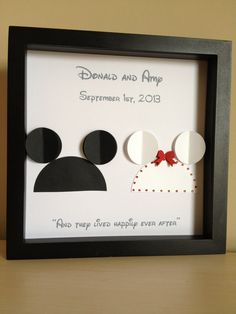 Disney Wedding - 3d Paper Art - Customize for the perfect wedding or anniversary gift on Etsy, $35.00