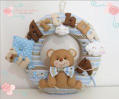 Guirlanda tema urso e Pipa Artes em Feltros by Juliana Cwikla Feito em 25/02 moldes Apostila Digital Kit Maternidade Ursos - Artes em Feltros by Juliana Cwikla R$26,90