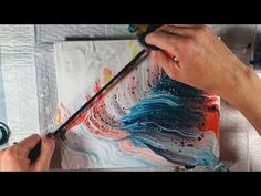 Trying Fat Yarn in a String Pull Fluid Acrylic Pouring Acrylic Pouring Art, Fluid Acrylics, Watercolour Tutorials, Diy Canvas Art, Pour Painting, String Art, Fat, Make It Yourself, Christmas Decorations