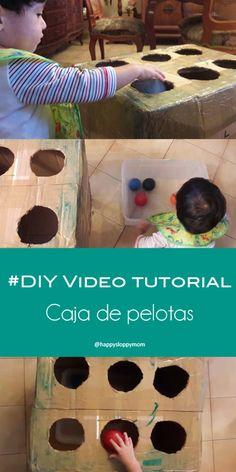 #DIY #Video #Tutorial Caja de pelotas - Carboard box ball game #juegos #toddlers #hazlotumismo