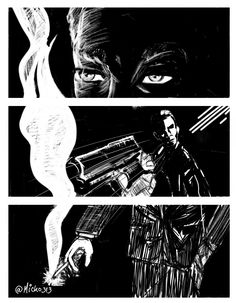 Noir page on Behance Art Drawings, Digital Art, Behance, Comics, Illustration, Movie Posters, Black People, Film Poster, Illustrations