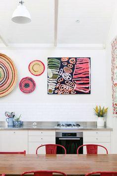 Photo – Rachel Kara, Production – Lucy Feagins : The Design Files. colorful kitchen