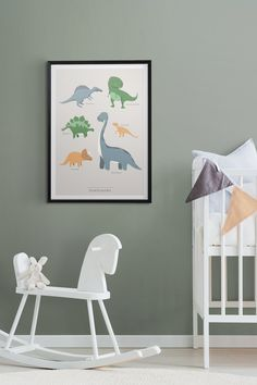 Kunskapstavlan - Beautiful and useful art for your children! A perfect edition to a kids room for those who love dinosaurs.
