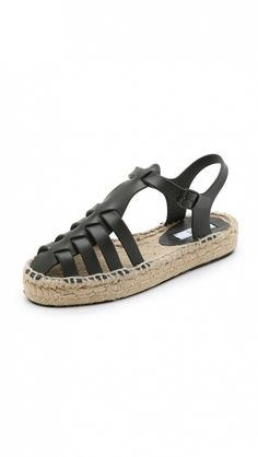 Miista Ariella Espadrille Jelly Sandals in black