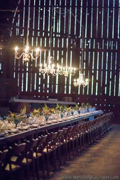 Barnyard + Complete with Chandeliers I Le Festin Events Wedding Places, Wedding Locations, Event Planning, Wedding Planning, Aqua, Coral, When I Get Married, Barn Weddings, Table Arrangements