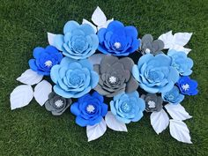 Giant Paper Flower Decor Set by KPaperFlowers on Etsy