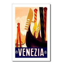 Venice Travel Poster 1 Postcards (Package of 8) for