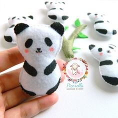 A personal favourite from my Etsy shop https://www.etsy.com/uk/listing/565405165/a-set-of-felt-panda-party-favor-felt