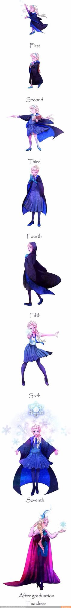 "I like the concept, but I can't get over how her skirt keeps on getting shorter! Elsa was pretty freaking modest except for the slit in her ""Let it Go"" dress"