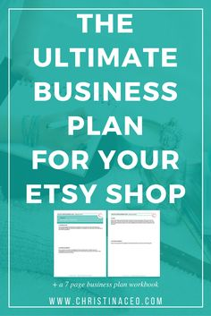 Want to create the perfect business plan for your Etsy shop? I will break down everything when it comes to planning for the new year and a free workbook is included! Business Management, Business Planning, Business Tips, Online Business, Sales Management, Business Articles, Craft Business, Home Based Business, Business School