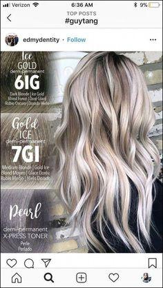 Brown Ombre Hair, Ash Blonde Hair, Platinum Blonde Hair, Ombre Hair Color, Hair Color Balayage, Blonde Balayage, Hair Highlights, Redken Hair Color, Guy Tang Blonde