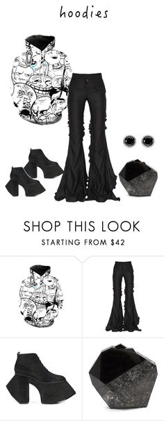"""""""Hood Rat"""" by angelnmila ❤ liked on Polyvore featuring WithChic, Marco de Vincenzo, Robert Wun, Thomas Sabo and Hoodies"""