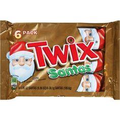 Twix Holiday Santas Candy, 1.1 oz, 6 count